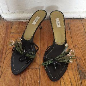 AUTHENTIC Prada mule sandal w/ flowers